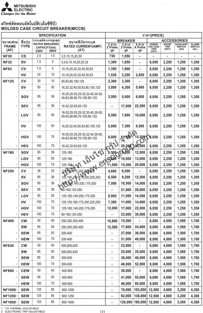 MITSUBISHI - Price list_Page_02